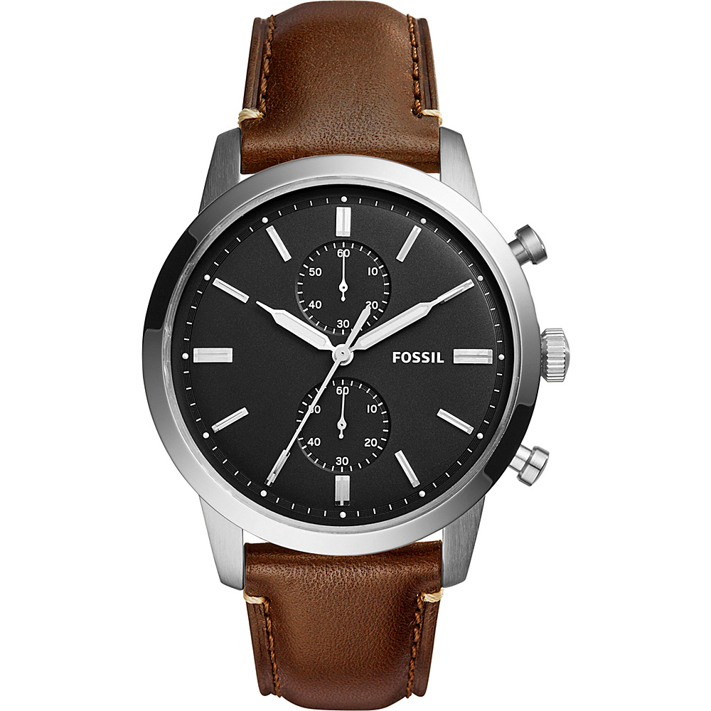 Fossil Townsman Multifunction Leather Watch Dark Brown - Fossil Watches - Fashion Accessories, Watches
