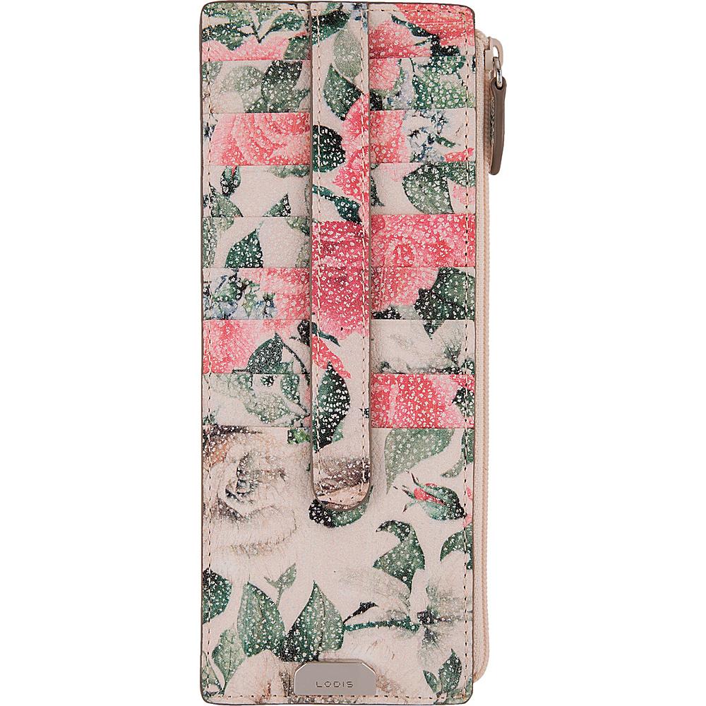 Lodis Bouquet Credit Card Case with Zipper Pocket Multi - Lodis Womens Wallets - Women's SLG, Women's Wallets