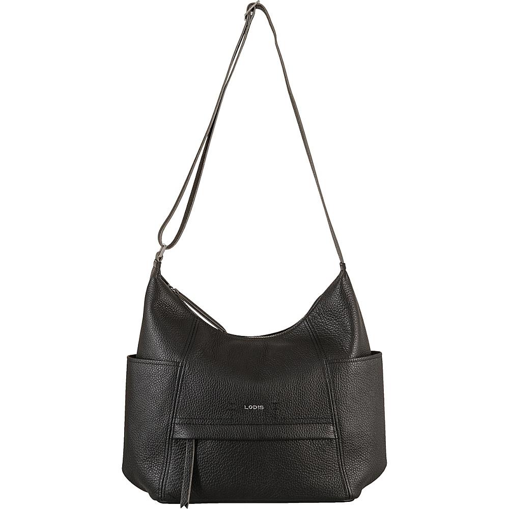 Lodis Valencia Olga Hobo Black - Lodis Leather Handbags - Handbags, Leather Handbags