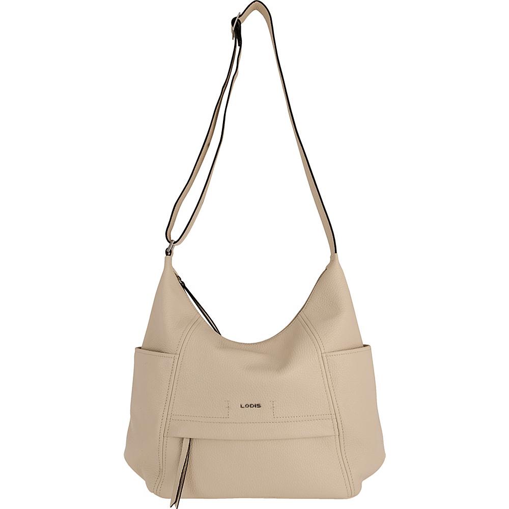 Lodis Valencia Olga Hobo Cream - Lodis Leather Handbags - Handbags, Leather Handbags