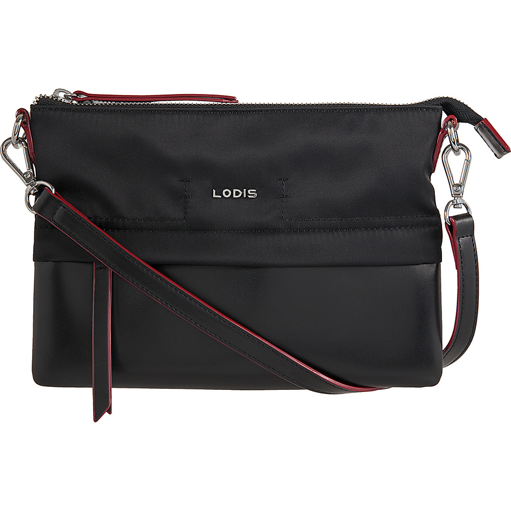 Lodis Kate Nylon Under Lock & Key Kala Convertible Crossbody Black - Lodis Fabric Handbags - Handbags, Fabric Handbags