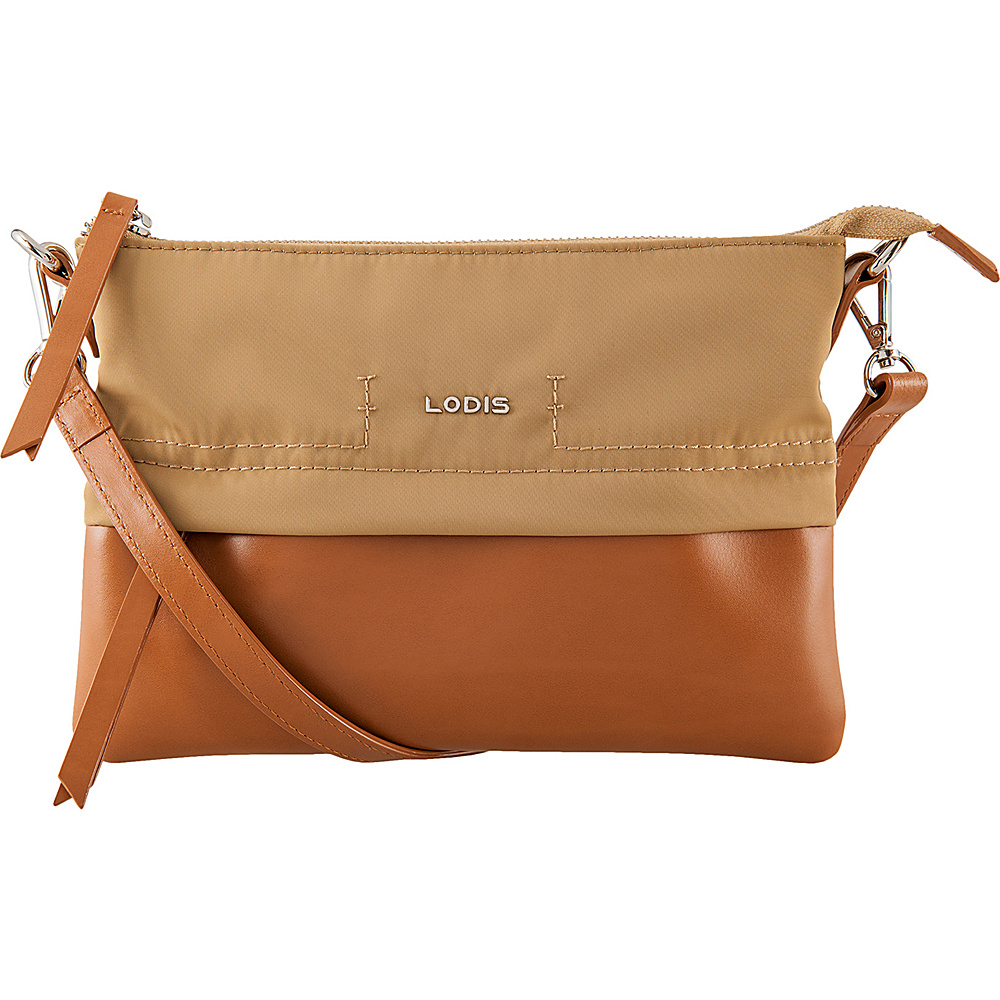 Lodis Kate Nylon Under Lock & Key Kala Convertible Crossbody Light Brown - Lodis Fabric Handbags - Handbags, Fabric Handbags