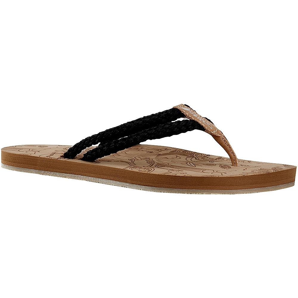 Sakroots Bailen Flip Flop Sandal 6 - Black - Sakroots Womens Footwear - Apparel & Footwear, Women's Footwear