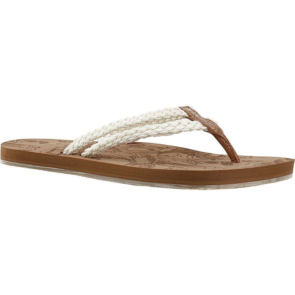 Sakroots Bailen Flip Flop Sandal 8 - Natural - Sakroots Womens Footwear - Apparel & Footwear, Women's Footwear