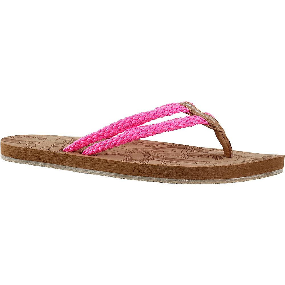 Sakroots Bailen Flip Flop Sandal 8 - Neon Pink - Sakroots Womens Footwear - Apparel & Footwear, Women's Footwear