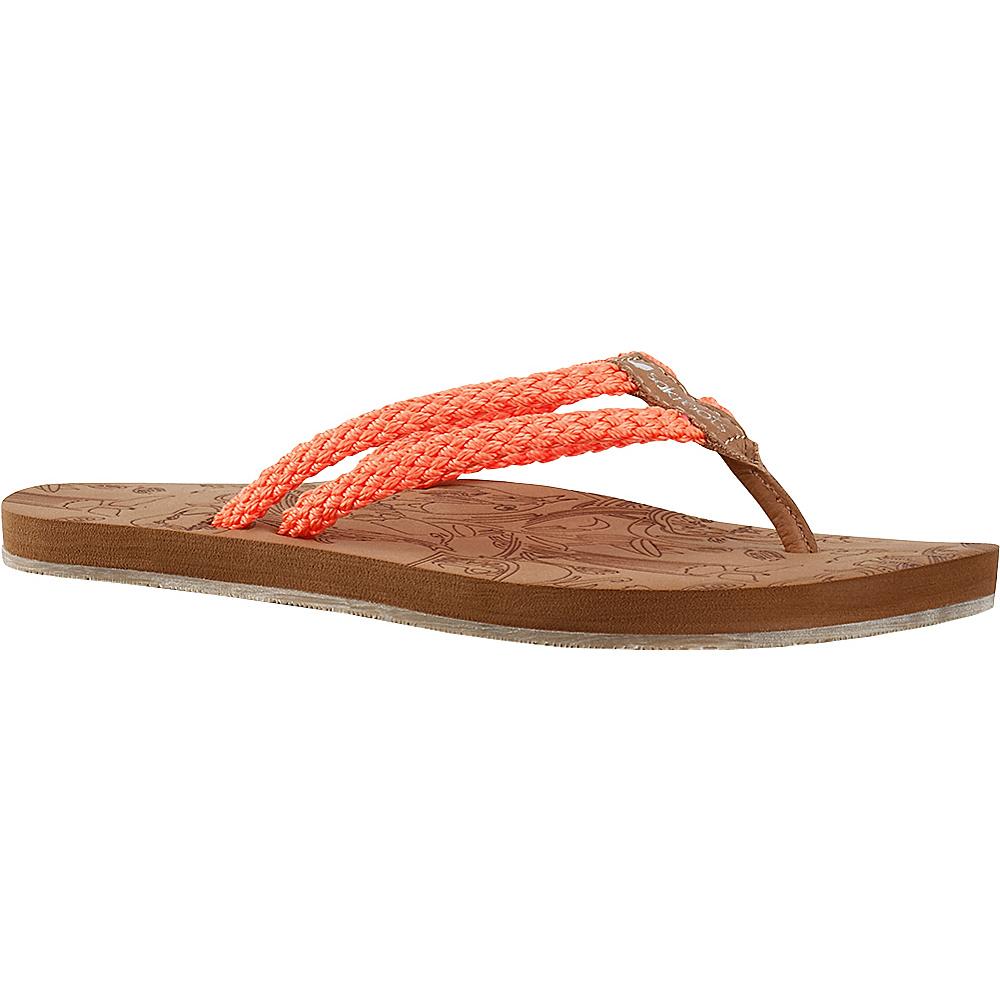 Sakroots Bailen Flip Flop Sandal 7 - Neon Orange - Sakroots Womens Footwear - Apparel & Footwear, Women's Footwear