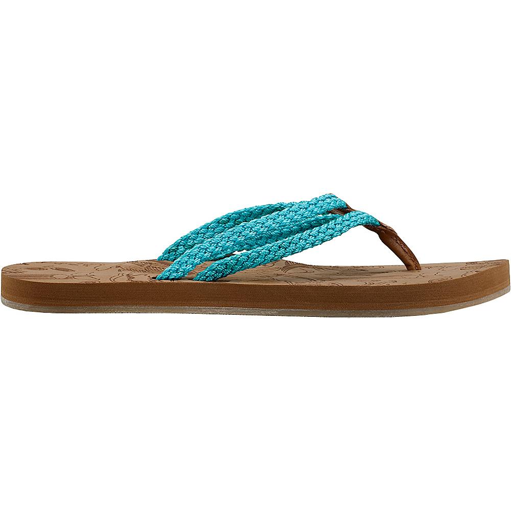 Sakroots Bailen Flip Flop Sandal 9 - Scuba Blue - Sakroots Womens Footwear - Apparel & Footwear, Women's Footwear