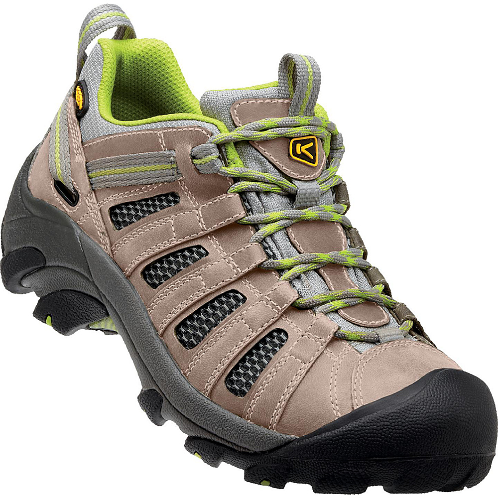 KEEN Womens Voyageur Hiking Shoe 9 - Neutral Gray/Lime Green - KEEN Womens Footwear - Apparel & Footwear, Women's Footwear