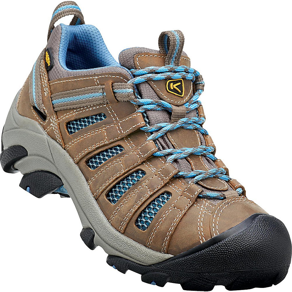 KEEN Womens Voyageur Hiking Shoe 9 - Brindle/Alaskan Blue - KEEN Womens Footwear - Apparel & Footwear, Women's Footwear