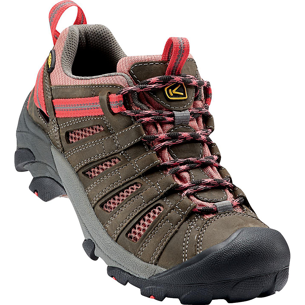 KEEN Womens Voyageur Hiking Shoe 8 - Raven/Rose Dawn - KEEN Womens Footwear - Apparel & Footwear, Women's Footwear