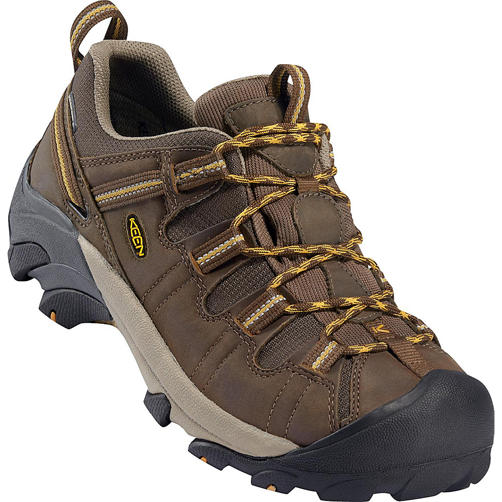 KEEN Mens Targhee II Waterproof Hiking Shoe 15 - W (Wide) - Cascade Brown/Golden Yellow - KEEN Mens Footwear - Apparel & Footwear, Men's Footwear