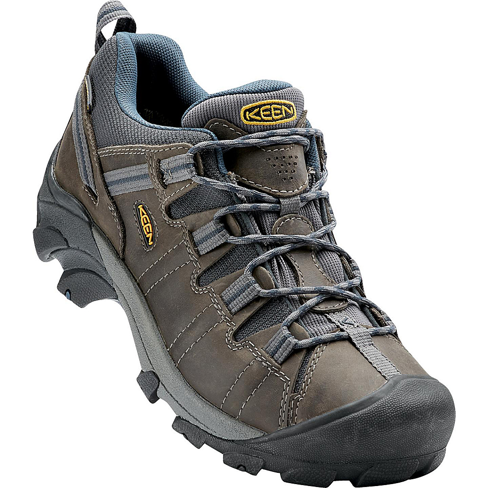 KEEN Mens Targhee II Waterproof Hiking Shoe 9 - M (Regular/Medium) - Gargoyle/Midnight Navy - KEEN Mens Footwear - Apparel & Footwear, Men's Footwear