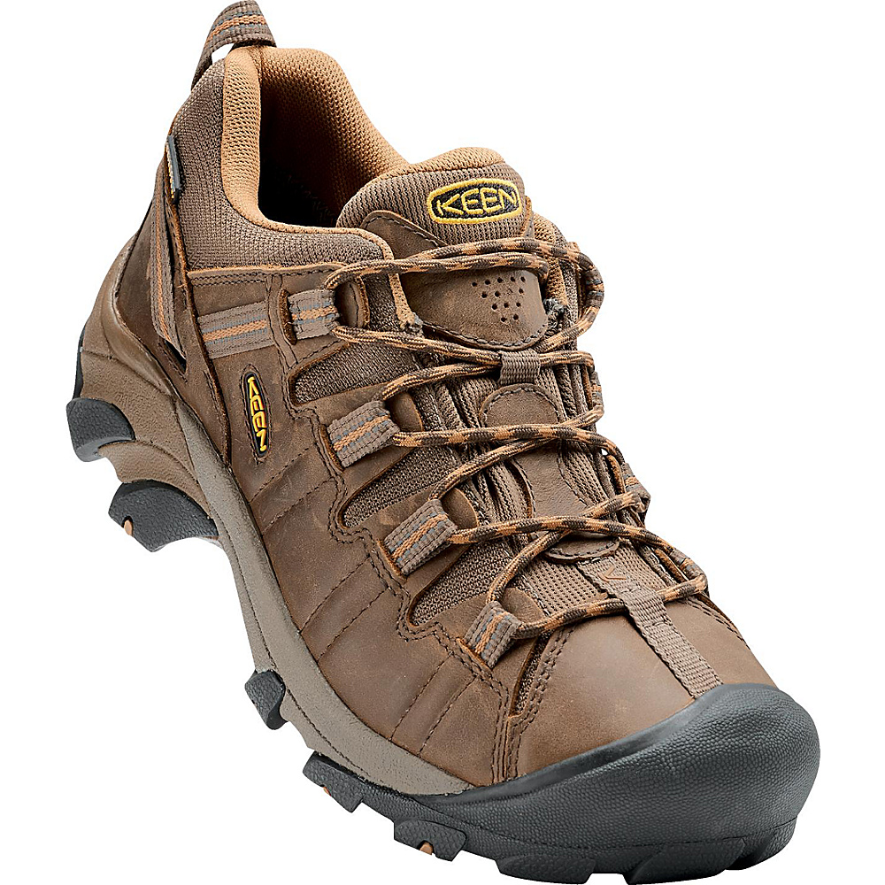 KEEN Mens Targhee II Waterproof Hiking Shoe 9.5 - M (Regular/Medium) - Cascade Brown/Brown Sug - KEEN Mens Footwear - Apparel & Footwear, Men's Footwear
