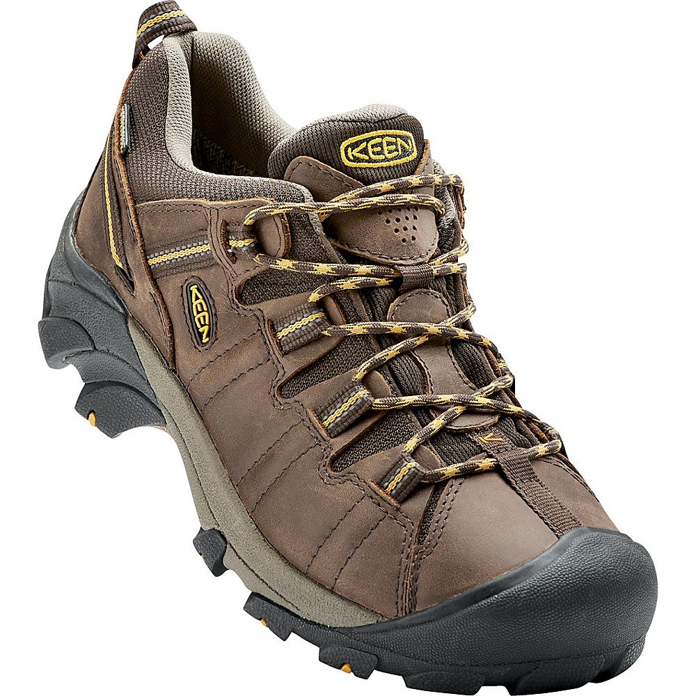 KEEN Mens Targhee II Waterproof Hiking Shoe 9 - M (Regular/Medium) - Light Cascade Brown/Golde - KEEN Mens Footwear - Apparel & Footwear, Men's Footwear