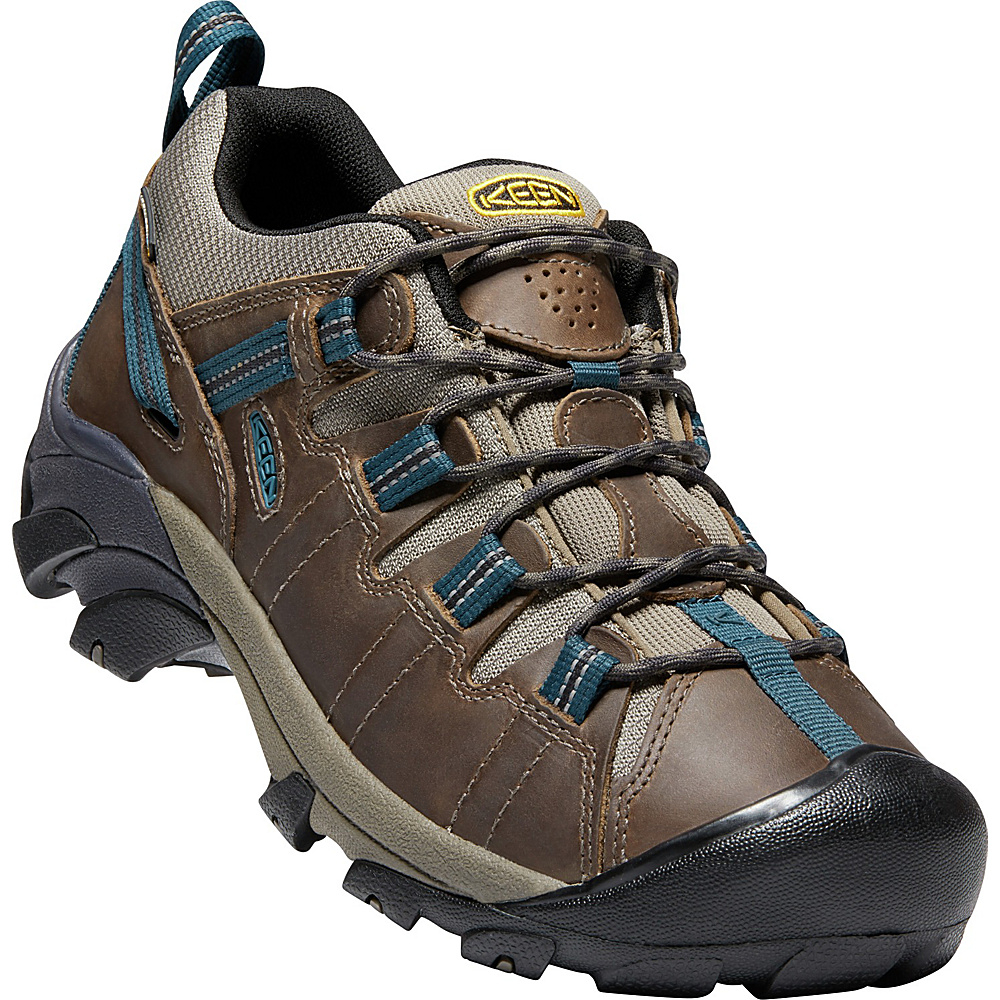 KEEN Mens Targhee II Waterproof Hiking Shoe 9.5 - M (Regular/Medium) - Bungee Cord/Legion Blue - KEEN Mens Footwear - Apparel & Footwear, Men's Footwear