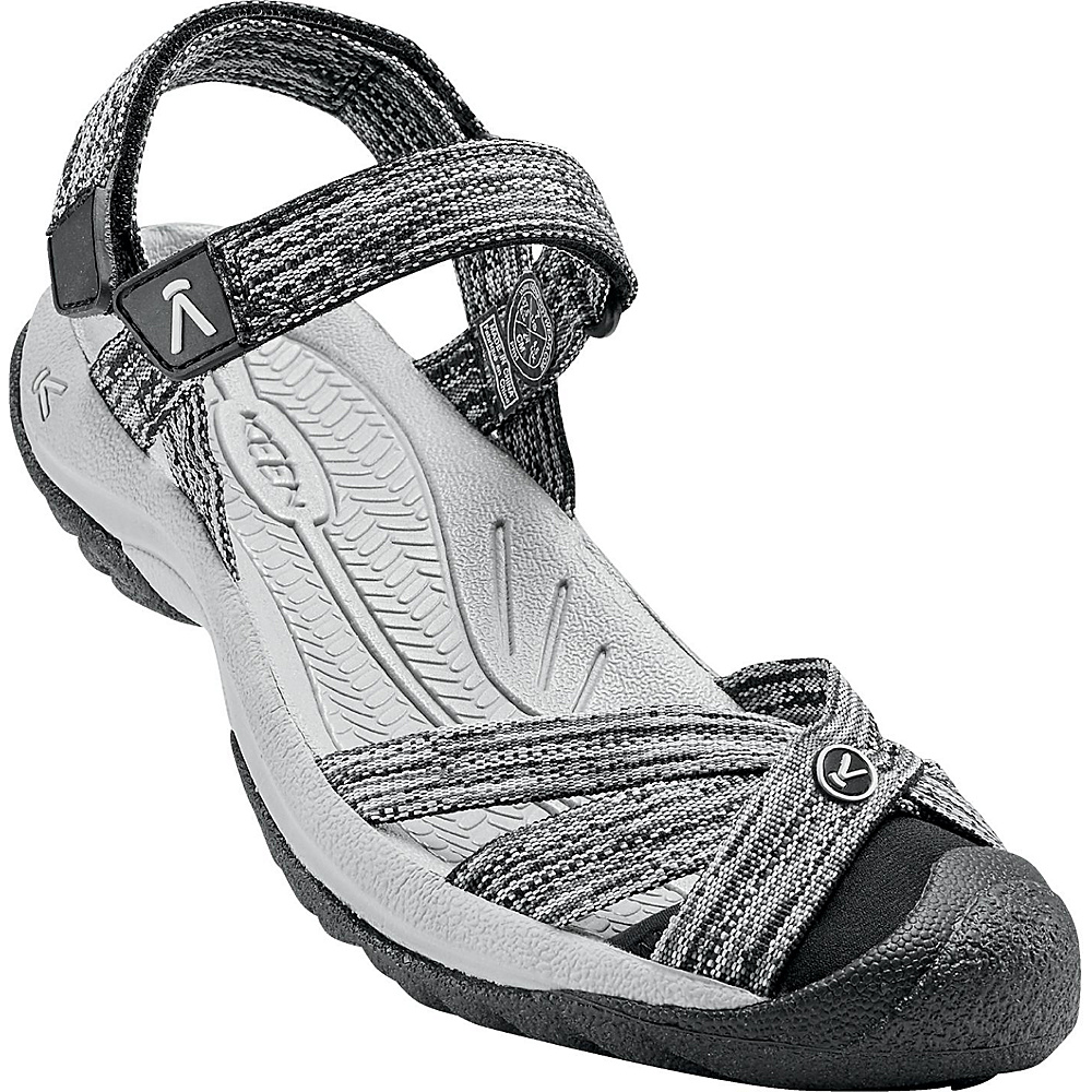 KEEN Womens Bali Strap Sandal 9 - Neutral Gray/Black - KEEN Womens Footwear - Apparel & Footwear, Women's Footwear