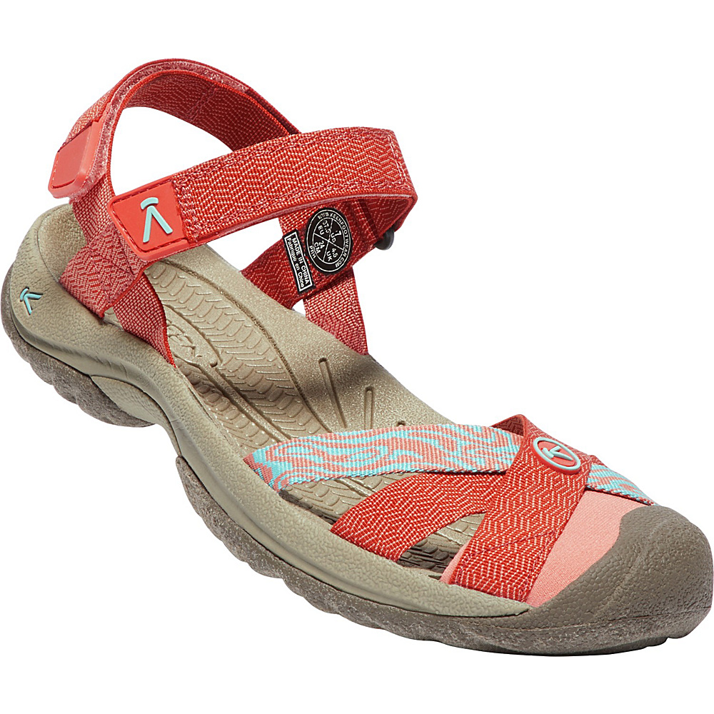KEEN Womens Bali Strap Sandal 6.5 - Summer Fig/Crabapple - KEEN Womens Footwear - Apparel & Footwear, Women's Footwear