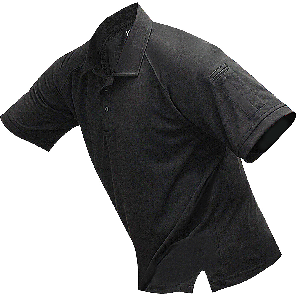 Vertx Mens Coldblack Short Sleeve Polo 2XL - Black - Vertx Mens Apparel - Apparel & Footwear, Men's Apparel