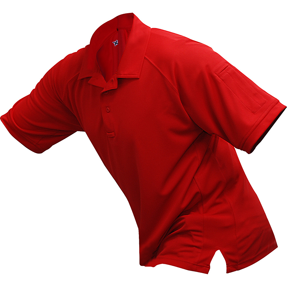Vertx Mens Coldblack Short Sleeve Polo 2XL - Red - Vertx Mens Apparel - Apparel & Footwear, Men's Apparel