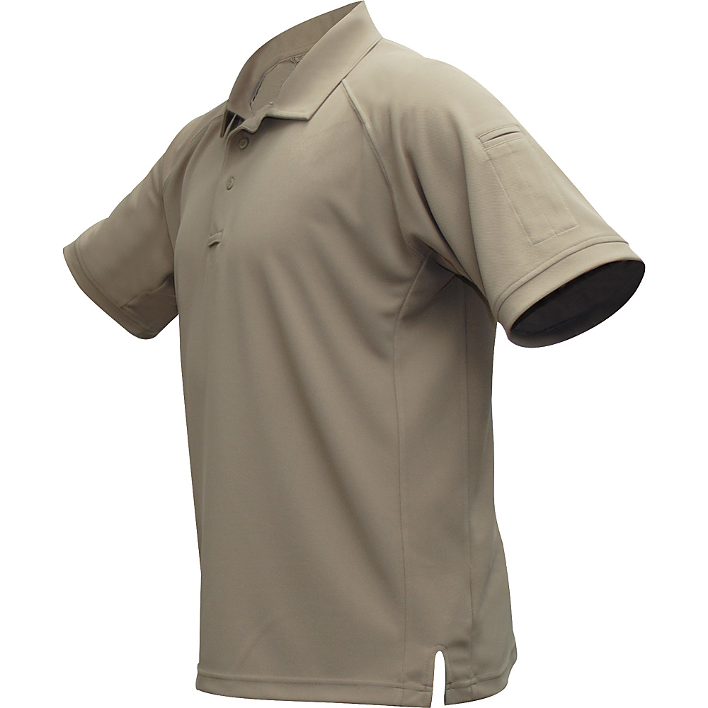 Vertx Mens Coldblack Short Sleeve Polo 2XL - Tan - Vertx Mens Apparel - Apparel & Footwear, Men's Apparel