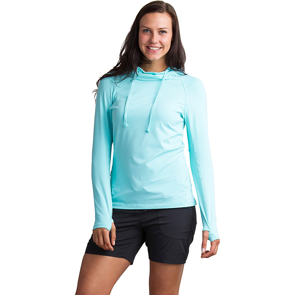 ExOfficio Womens Sol Cool Performance Hoody XS - Aruba - ExOfficio Womens Apparel - Apparel & Footwear, Women's Apparel