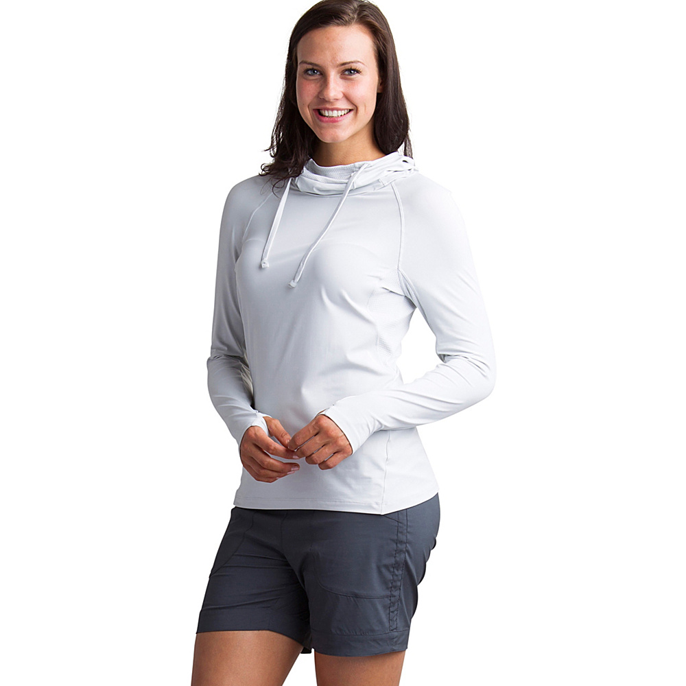 ExOfficio Womens Sol Cool Performance Hoody S - Platinum - ExOfficio Womens Apparel - Apparel & Footwear, Women's Apparel