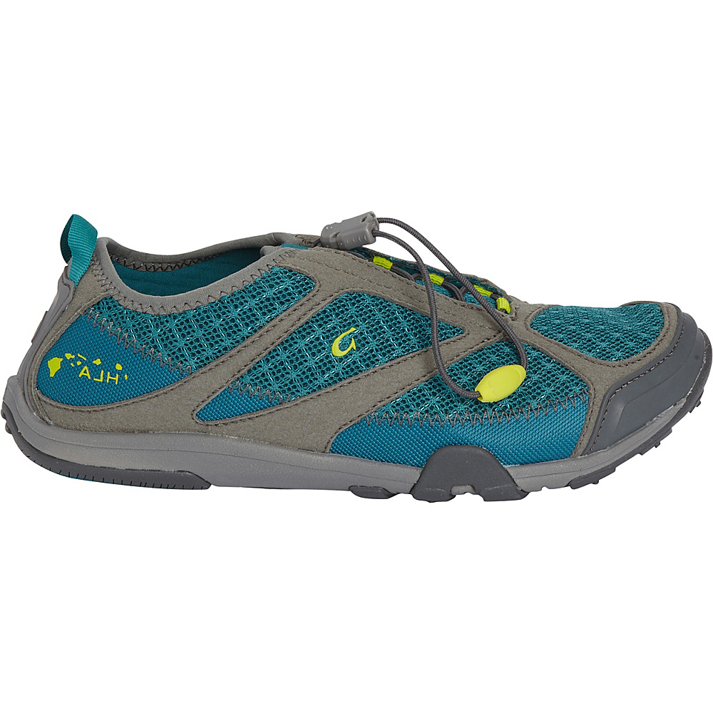 OluKai Womens Eleu Trainer Shoe 5 - Sea Green/Charcoal - OluKai Womens Footwear - Apparel & Footwear, Women's Footwear