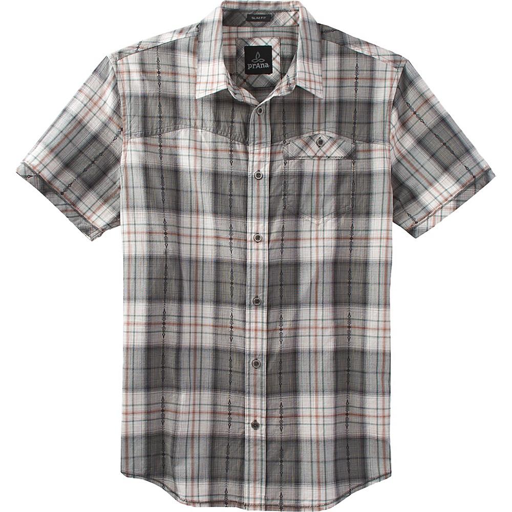 PrAna Patras Slim Shirt XL - Charcoal - PrAna Mens Apparel - Apparel & Footwear, Men's Apparel