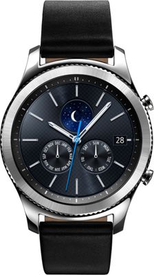 Samsung - Ingram Gear S3 Classic Smartwatch - Large Band Silver - Samsung - Ingram Wearable Technology
