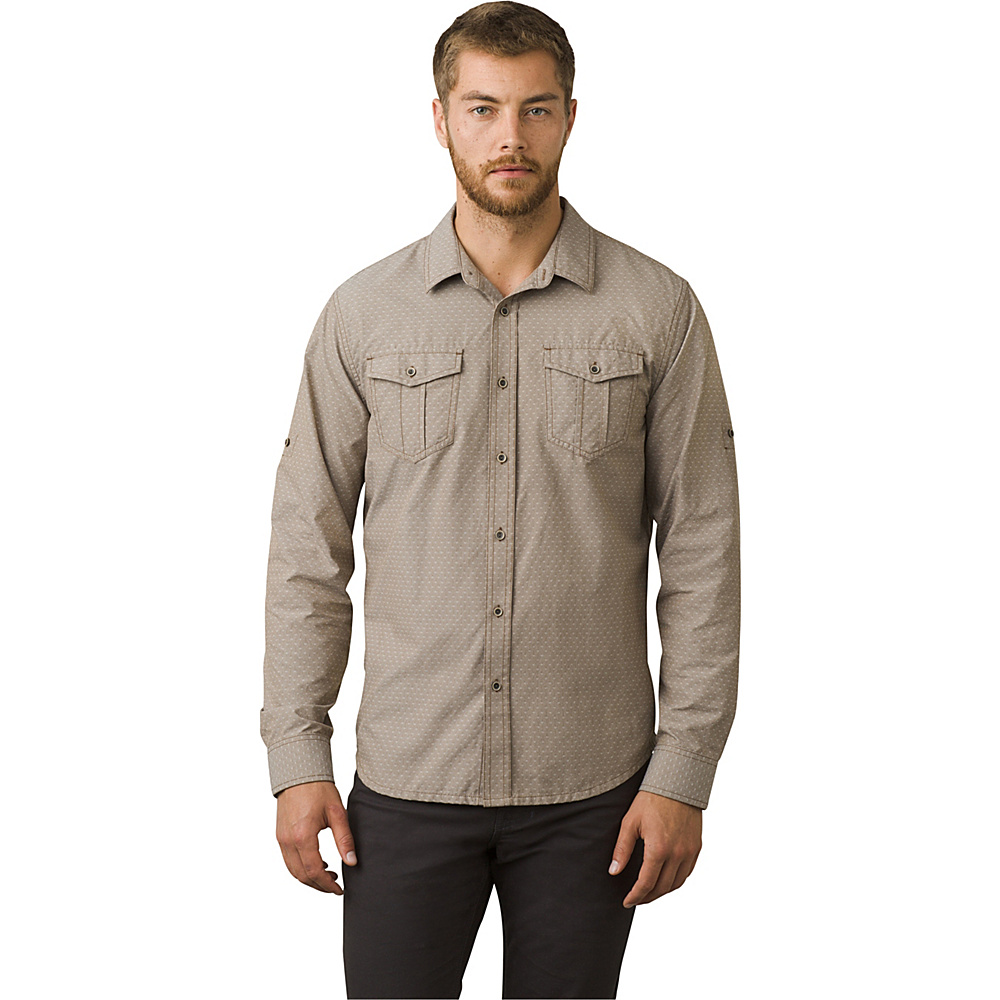 PrAna Ascension Shirt M - Acorn - PrAna Mens Apparel - Apparel & Footwear, Men's Apparel
