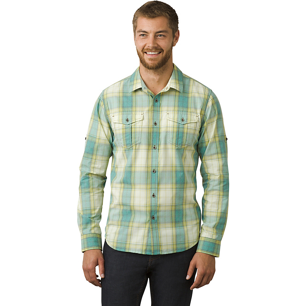 PrAna Ascension Shirt L - True Teal - PrAna Mens Apparel - Apparel & Footwear, Men's Apparel