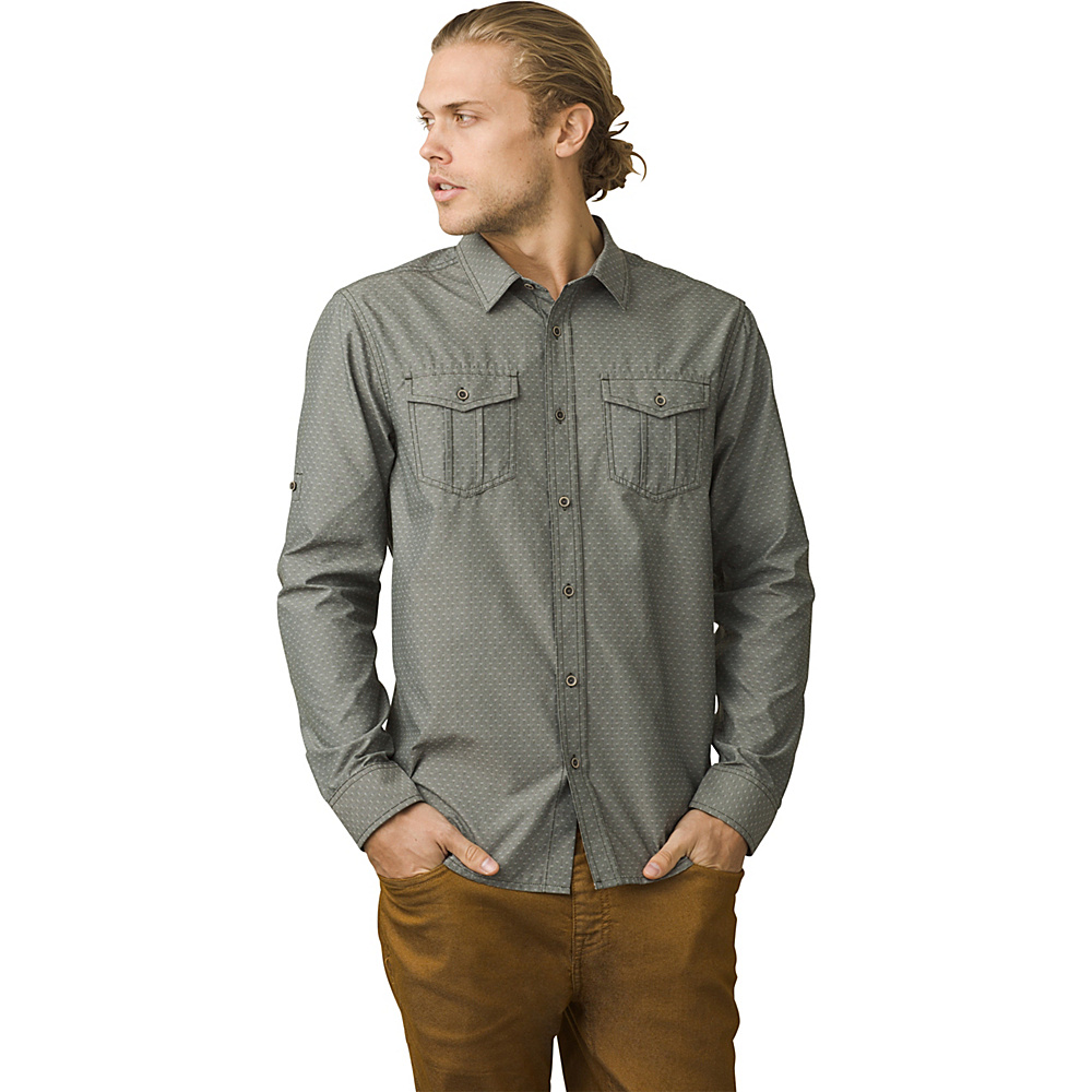 PrAna Ascension Shirt XXL - Dark Olive - PrAna Mens Apparel - Apparel & Footwear, Men's Apparel