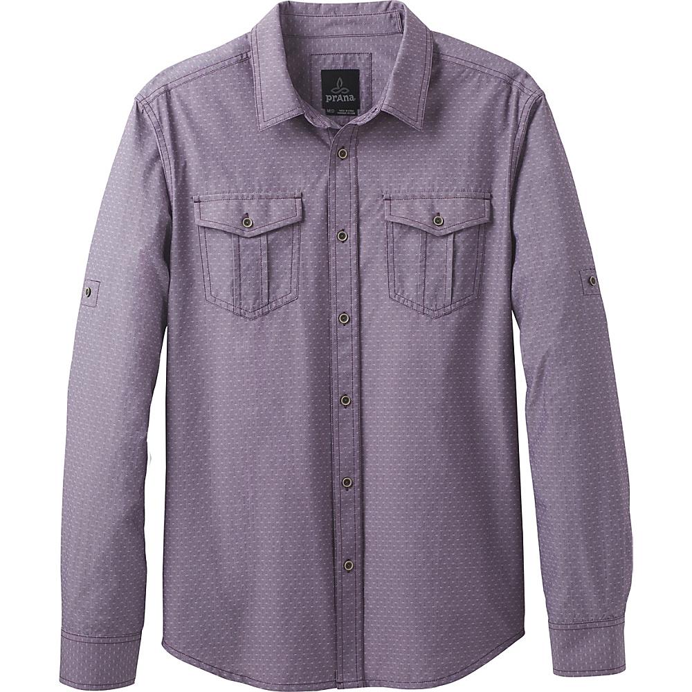 PrAna Ascension Shirt L - Dark Plum - PrAna Mens Apparel - Apparel & Footwear, Men's Apparel
