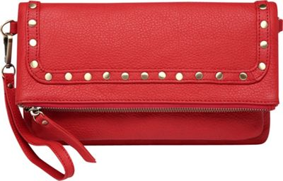 Vicenzo Leather Francesca Leather Convertible Crossbody Red - Vicenzo Leather Leather Handbags