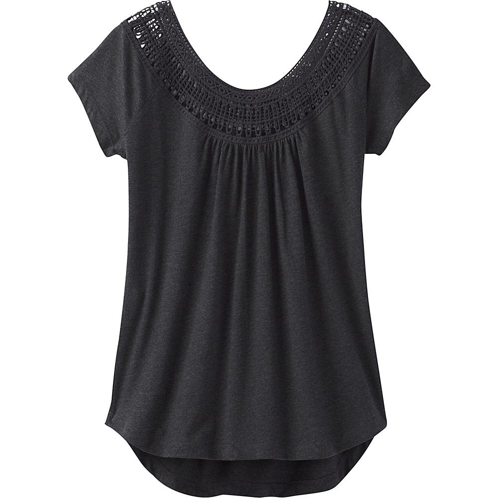 PrAna Nelly Tee L - Black - PrAna Womens Apparel - Apparel & Footwear, Women's Apparel