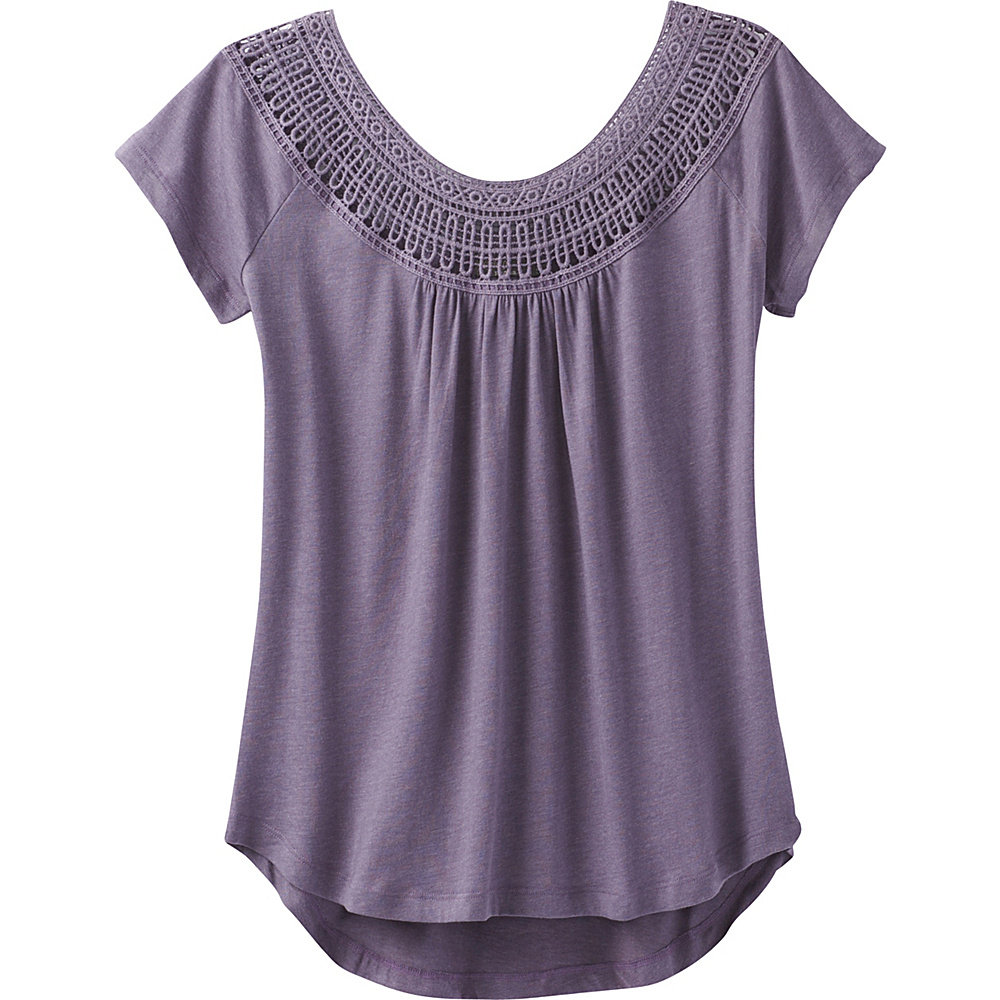 PrAna Nelly Tee L - Purple Mountain - PrAna Womens Apparel - Apparel & Footwear, Women's Apparel