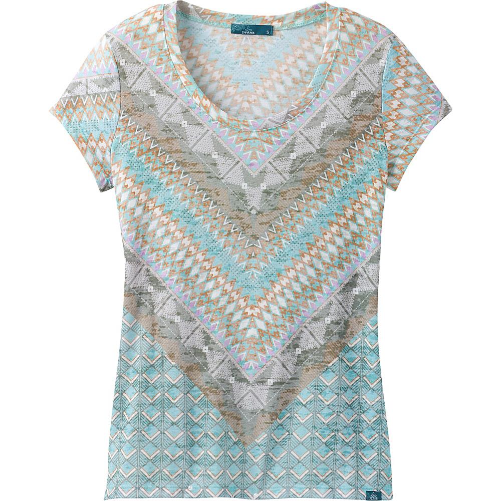PrAna Short Sleeve Portfolio Crew Neck Top XL - Bora Bay Gatsby - PrAna Womens Apparel - Apparel & Footwear, Women's Apparel