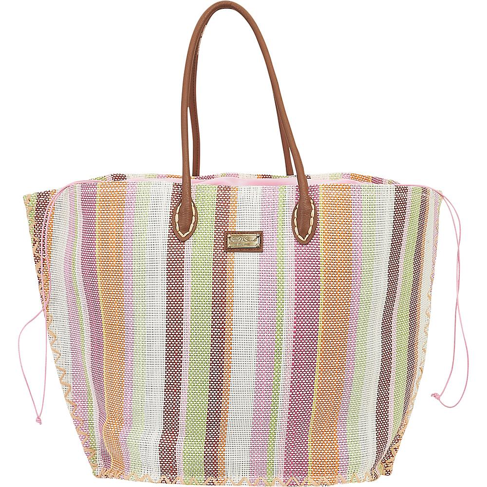 Sun N Sand Natural Straw Handbag Tote Tan Multi - Sun N Sand Straw Handbags - Handbags, Straw Handbags