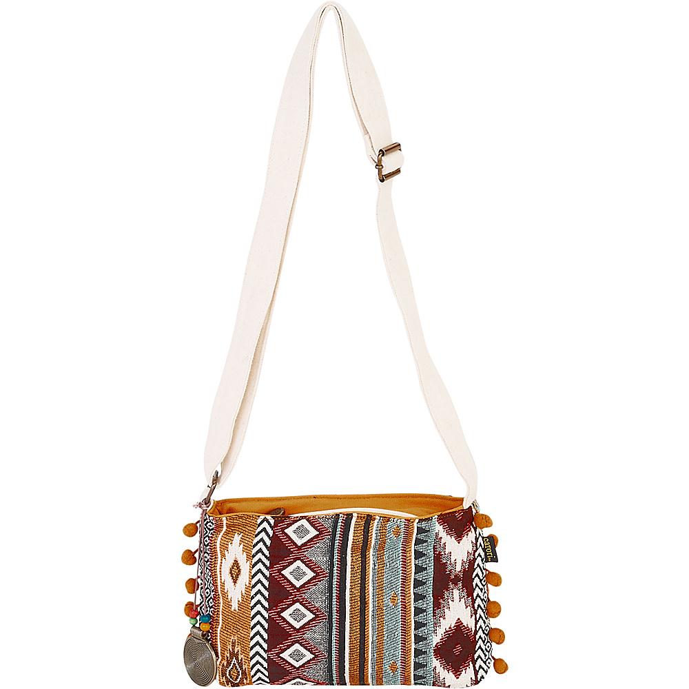 Sun N Sand Anu Crossbody Red Multi - Sun N Sand Fabric Handbags - Handbags, Fabric Handbags
