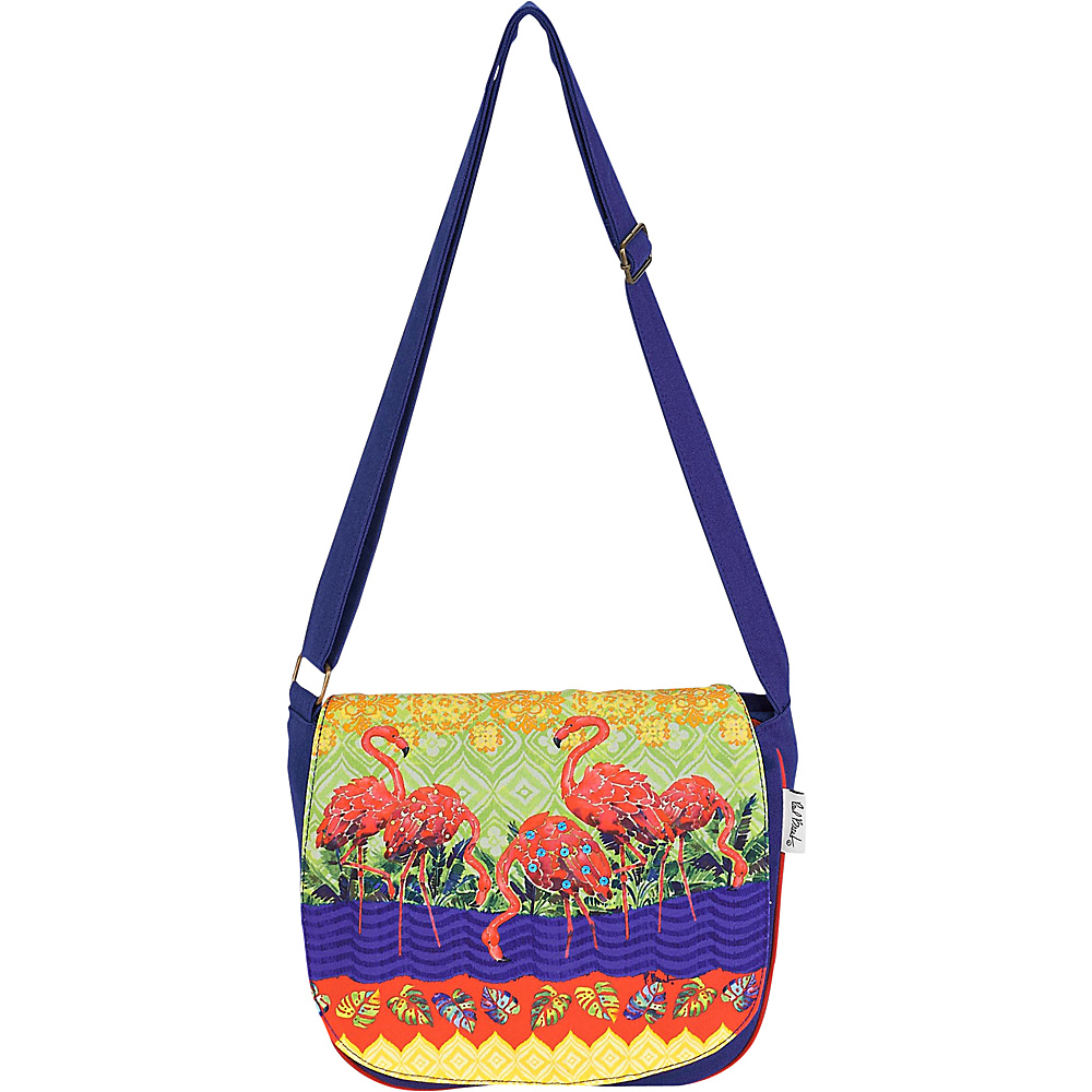 Sun N Sand Paul Brent Artistic Canvas Crossbody Flamingos - Sun N Sand Fabric Handbags - Handbags, Fabric Handbags
