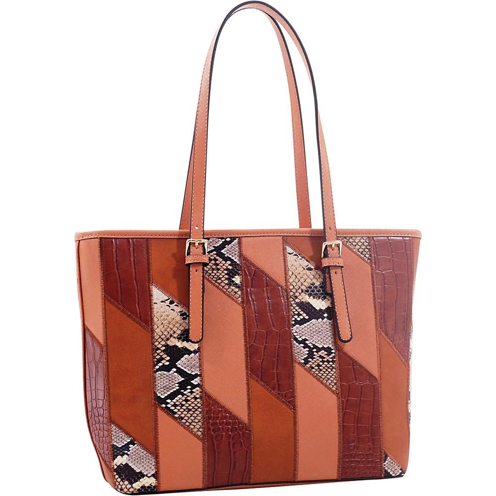MKF Collection by Mia K. Farrow Josie/ Galleria Tote Coffee - MKF Collection by Mia K. Farrow Manmade Handbags - Handbags, Manmade Handbags