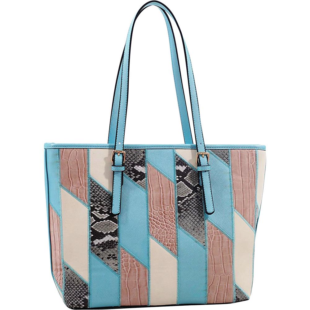 MKF Collection by Mia K. Farrow Josie/ Galleria Tote Light Blue - MKF Collection by Mia K. Farrow Manmade Handbags - Handbags, Manmade Handbags