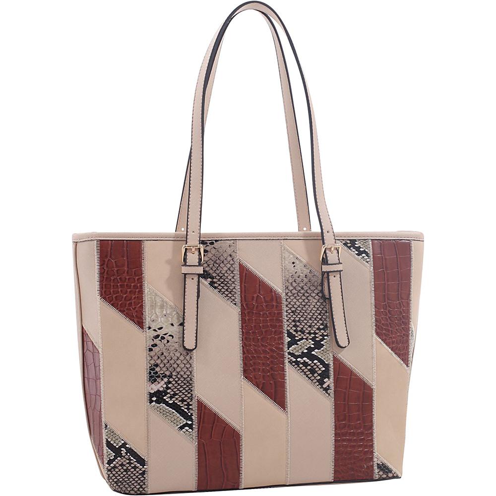 MKF Collection by Mia K. Farrow Josie/ Galleria Tote Light Brown - MKF Collection by Mia K. Farrow Manmade Handbags - Handbags, Manmade Handbags