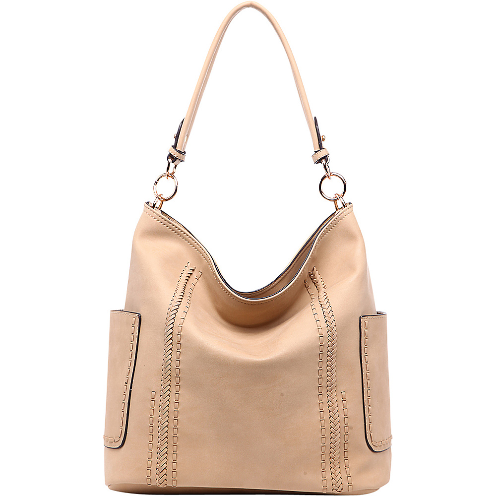 MKF Collection by Mia K. Farrow Betty Hobo Shoulder Bag Apricot - MKF Collection by Mia K. Farrow Manmade Handbags - Handbags, Manmade Handbags