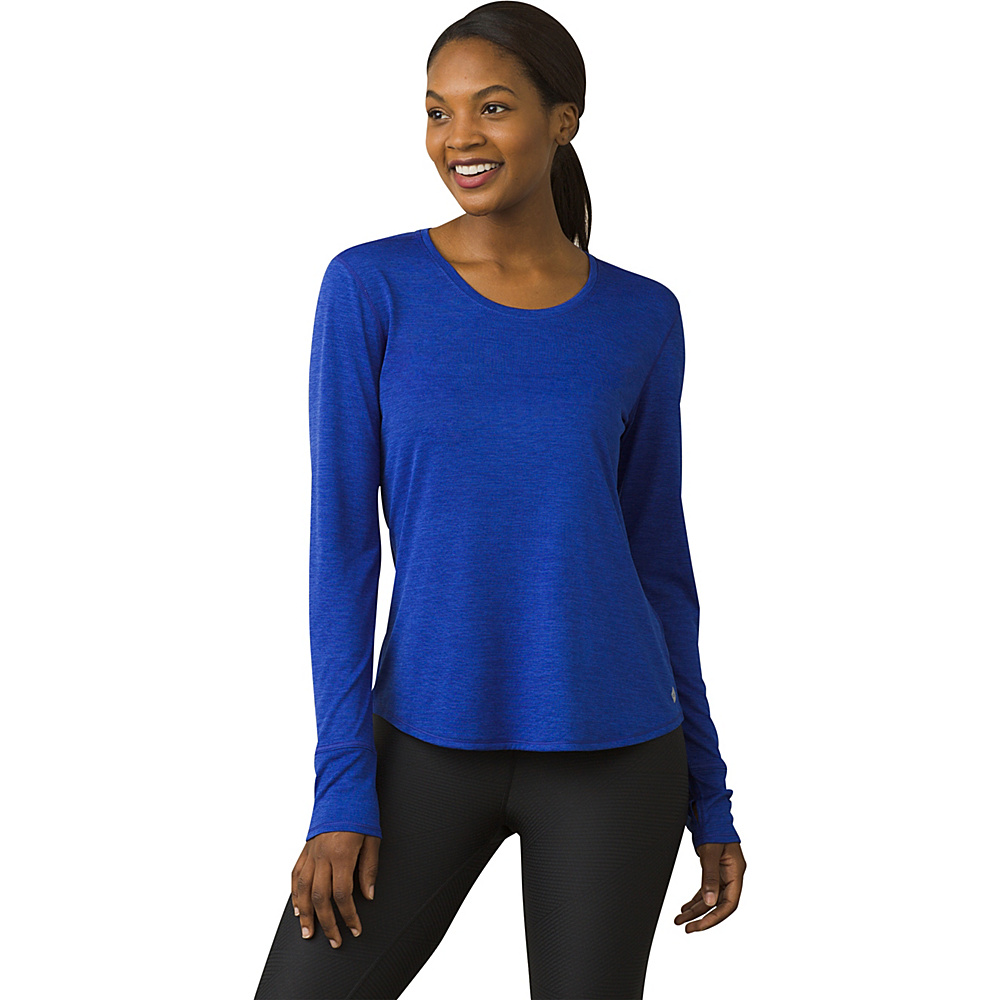 PrAna Revere Long Sleeve Tee XL - Cobalt - PrAna Womens Apparel - Apparel & Footwear, Women's Apparel