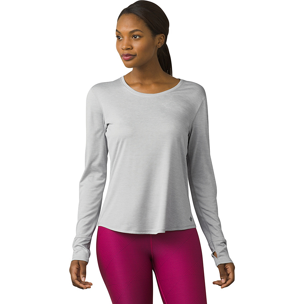 PrAna Revere Long Sleeve Tee M - Silver - PrAna Womens Apparel - Apparel & Footwear, Women's Apparel
