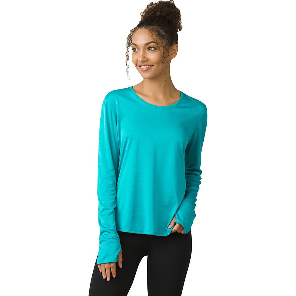 PrAna Revere Long Sleeve Tee M - North Sea - PrAna Womens Apparel - Apparel & Footwear, Women's Apparel