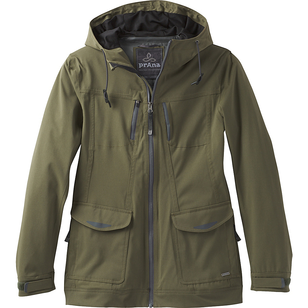 PrAna Halle Hooded Jacket M - Cargo Green - PrAna Womens Apparel - Apparel & Footwear, Women's Apparel