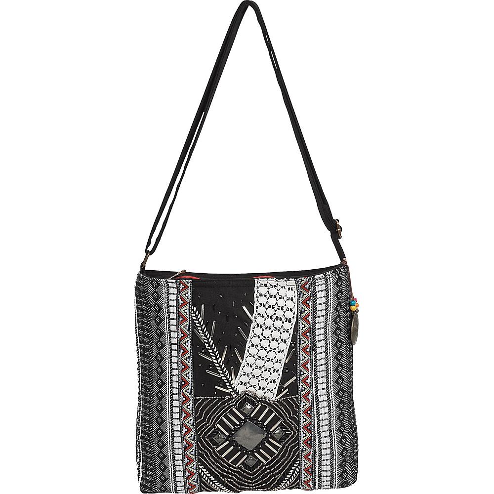 Sun N Sand Nova Crossbody Black Multi - Sun N Sand Fabric Handbags - Handbags, Fabric Handbags