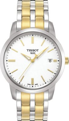 Tissot Watches Men's Classic Dream Watch White - Tissot W...